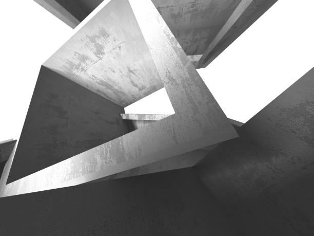 Dunkelbeton leerer Raum. Modernes Architekturdesign – Foto