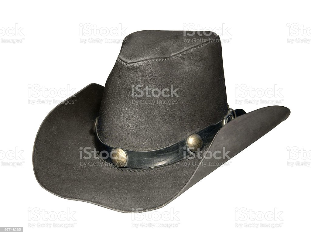 dark cowboy hat royalty-free stock photo