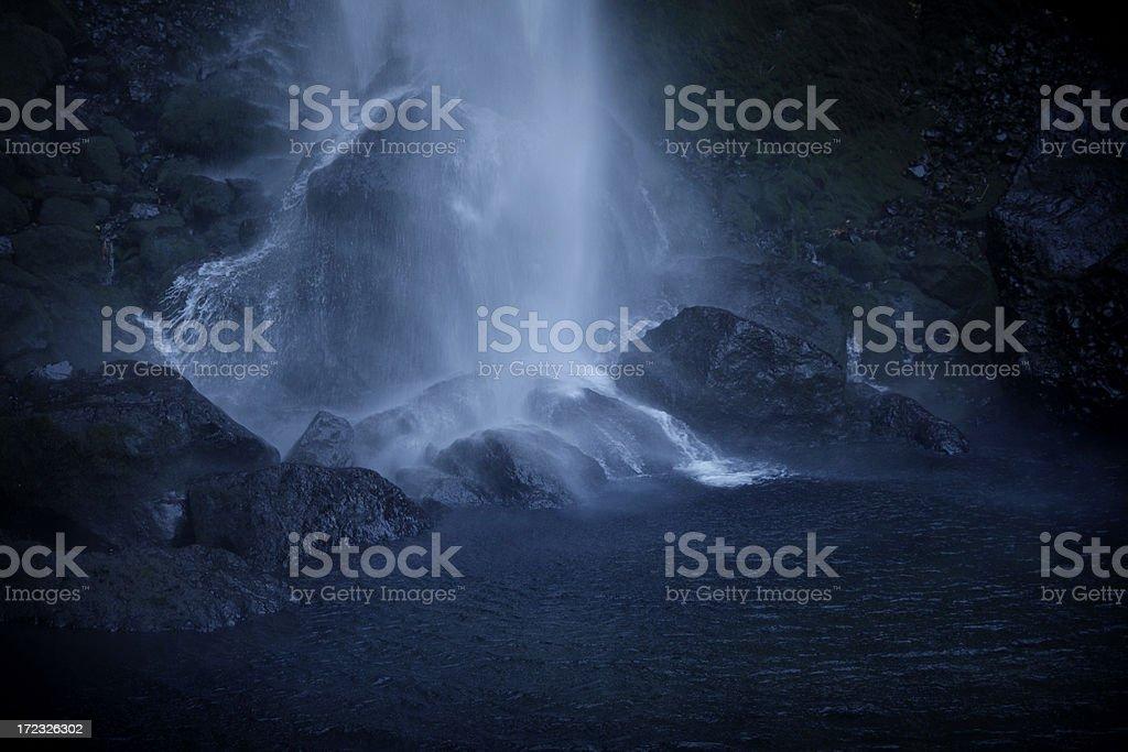 Dark Crashing Water Falls royalty-free stock photo