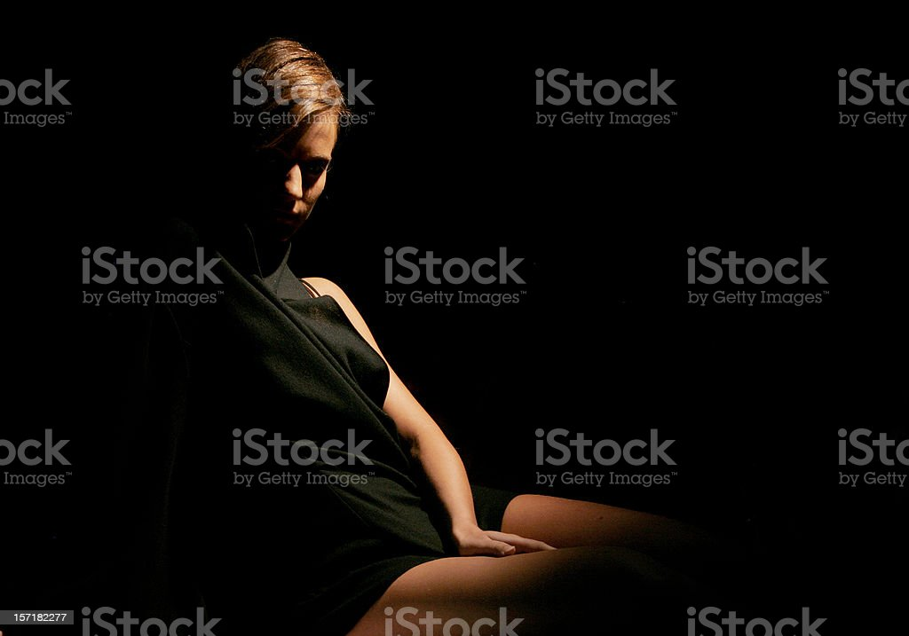 Dark curves stock photo