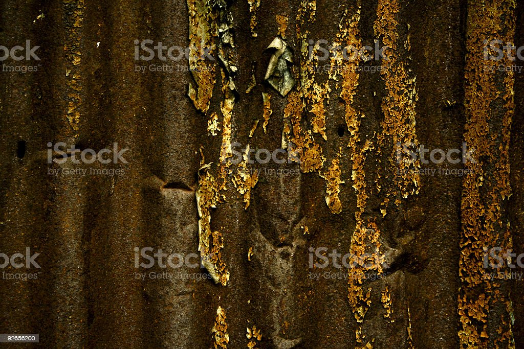 dark decay rusty corrugated metal texture royalty-free stock photo