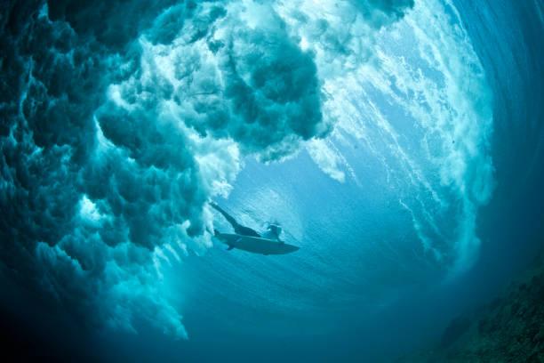 暗い duckdive - サーフィン ストックフォトと画像
