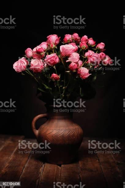 Dark dutch painters style classic still life with pink roses in picture id927104436?b=1&k=6&m=927104436&s=612x612&h=gzajawkajsvxvso eb 3xi0kdnszprv4nx6oiw bxig=