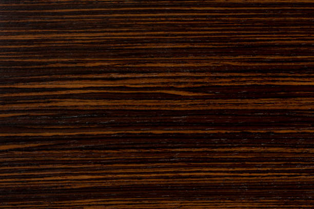 dark ebony wood background, exclusive natural texture with patte - palisade boundary stock photos and pictures