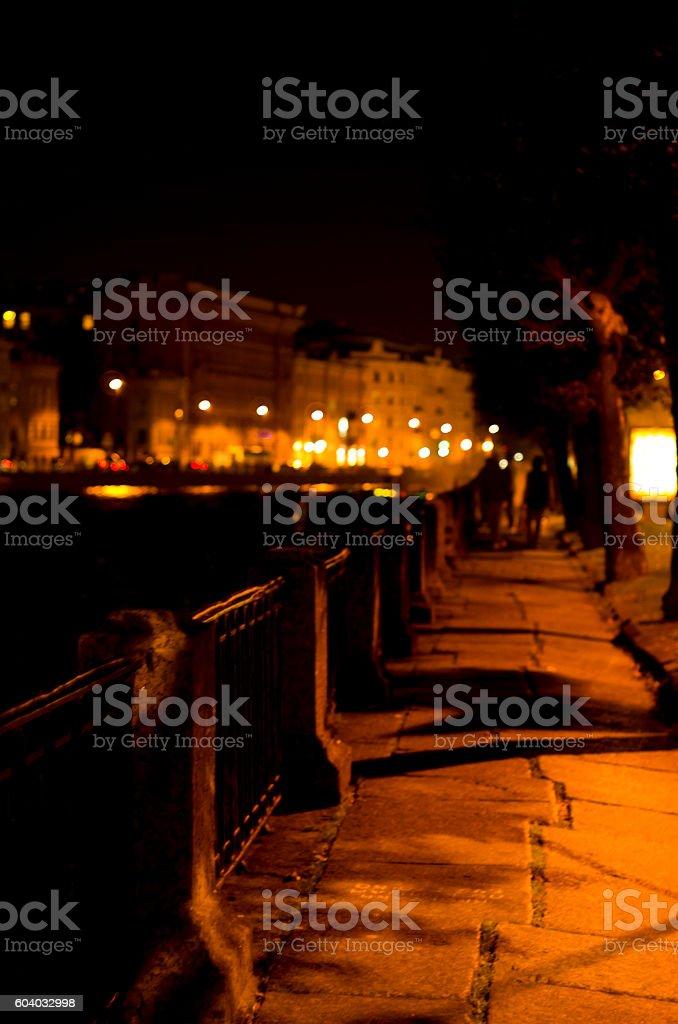 Dark embankment stock photo