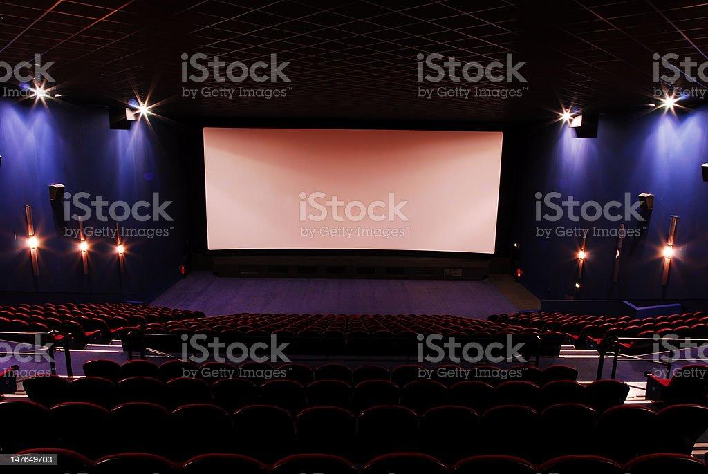 dark empty cinema royalty-free stock photo