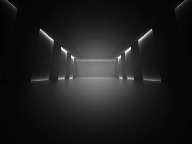 dunklen leeren raum-spalten-design-hintergrund. - flächeninhalt stock-fotos und bilder