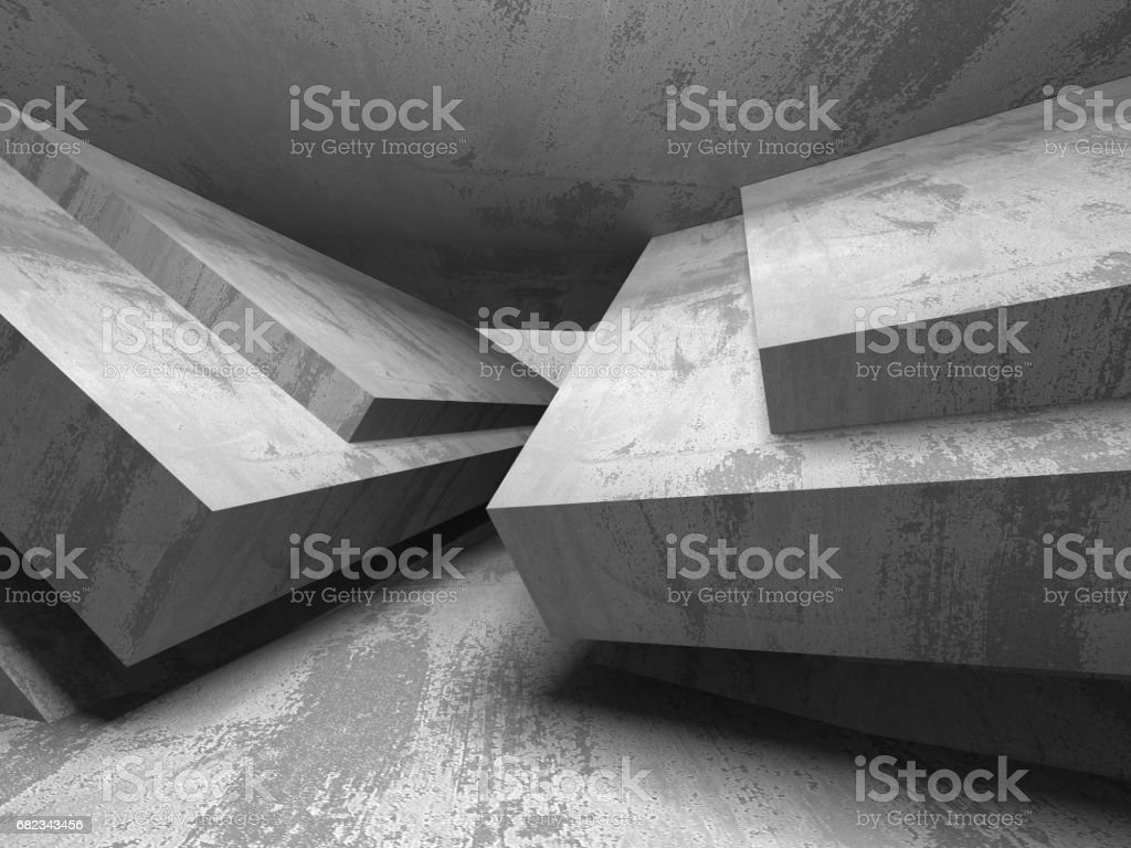 Dark empty room. Concrete rusty walls. Architecture background zbiór zdjęć royalty-free