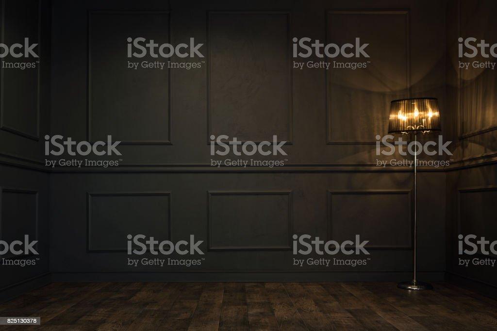 Cuarto oscuro vacío foto de stock libre de derechos