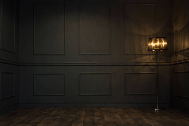 Dark empty room - foto stock