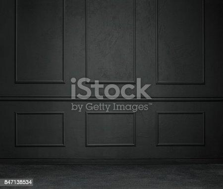 istock Dark empty room 847138534