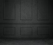 Empty, elegant vintage room with copy space