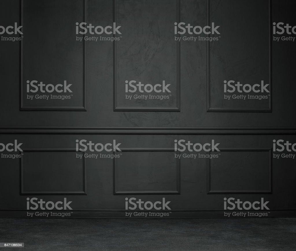 Dark empty room stock photo