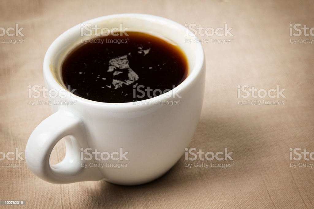 dark espresso in a cup royalty-free stock photo