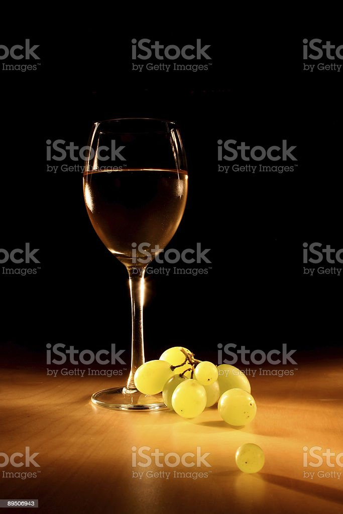 Dark evening wine still life royalty-free stock photo