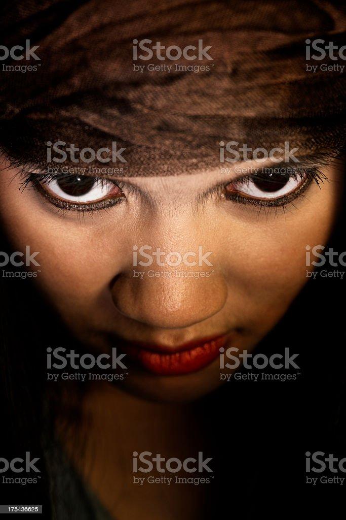 Dark Eyes royalty-free stock photo