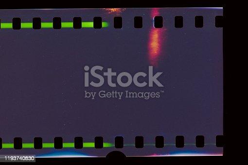 1152194399 istock photo Dark Film Light leak 1193740830