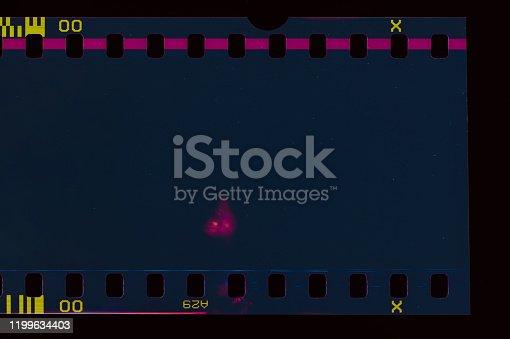 1152194399 istock photo Dark Film Light leak 1199634403