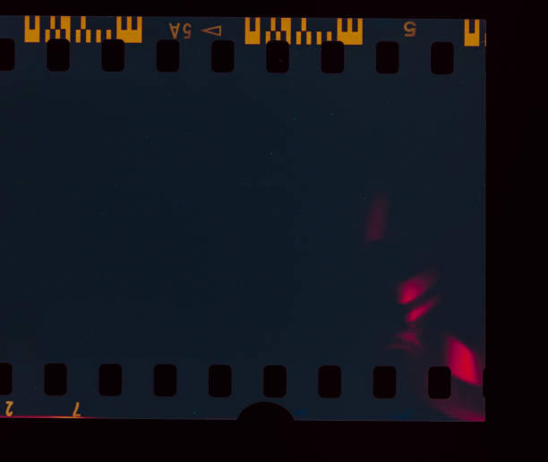 Dark Film Light leak stock photo