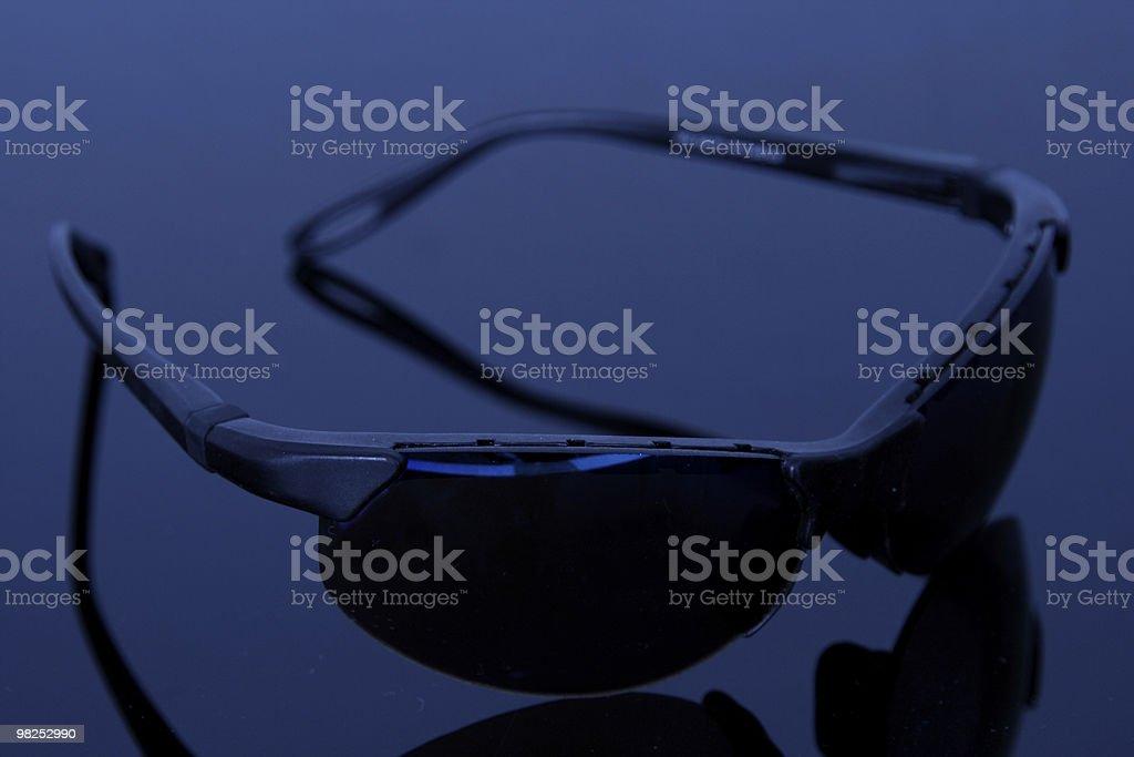 Dark glasses stock photo