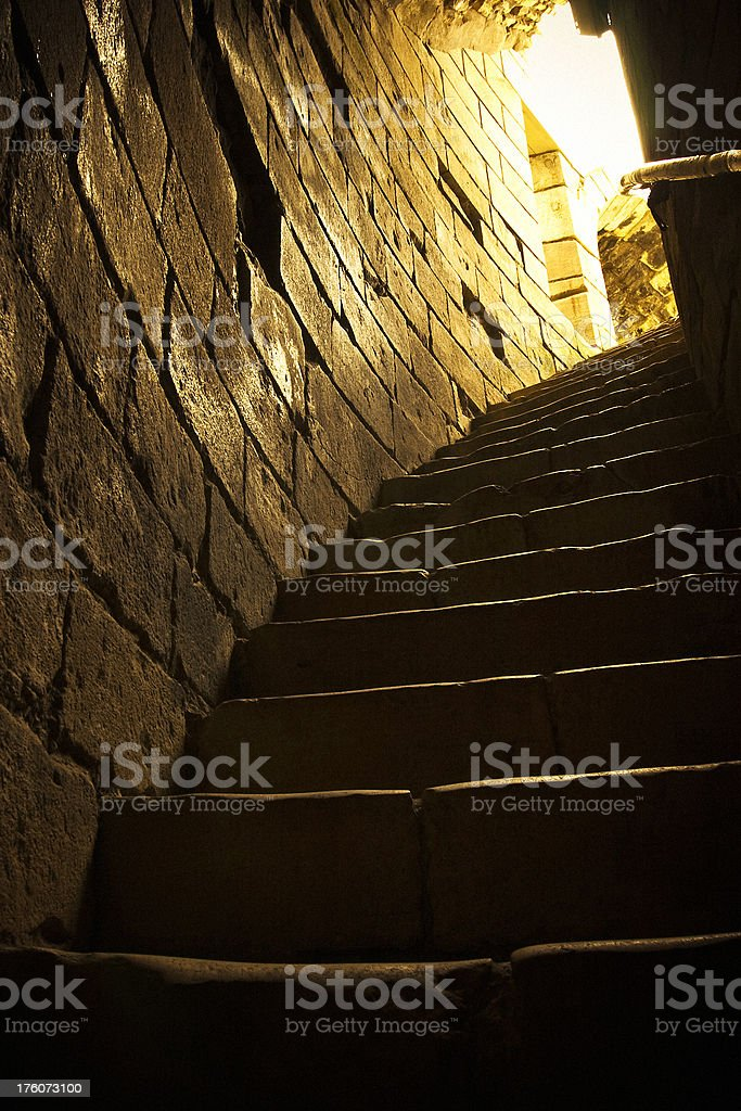 Dark Gothic Tower Staircase royalty-free stock photo