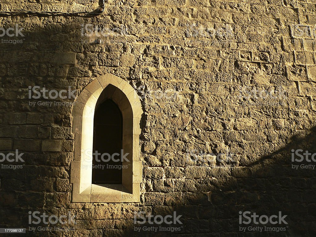 Dark Gothic Window stock photo