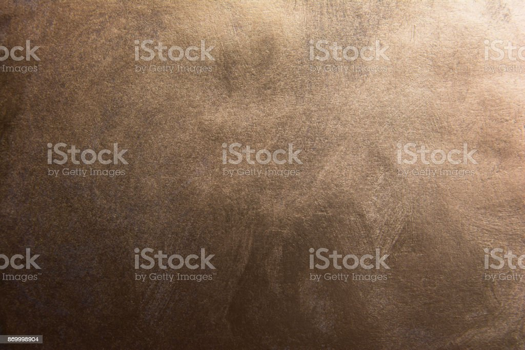 Dark gradient bronze texture background stock photo