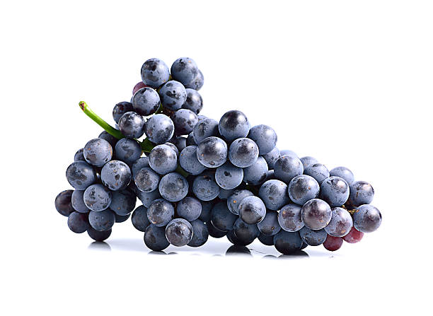 Dark grapes, Isolated on white background Dark grapes, Isolated on white background cabernet sauvignon grape stock pictures, royalty-free photos & images