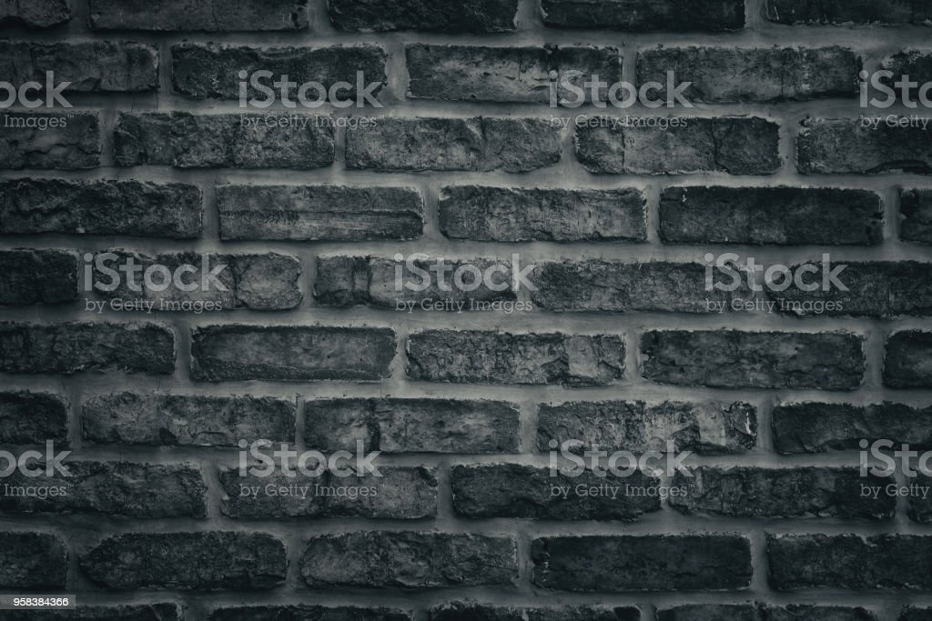 Texture De Brique Gris Fonce Mur Gros Plan Fond De Maconnerie Brute