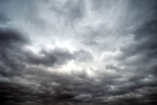 dark gray cloudy sky Dramatic sky. altocumulus stock pictures, royalty-free photos & images