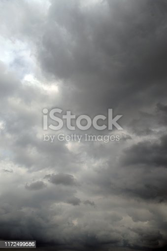 Dark gray cloudy sky backgrounds