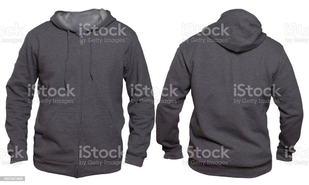 Dark Gray Hoodie Mock up stock photo