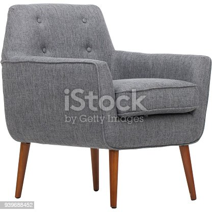 Dark Gray Living Rolled Top Club Chair