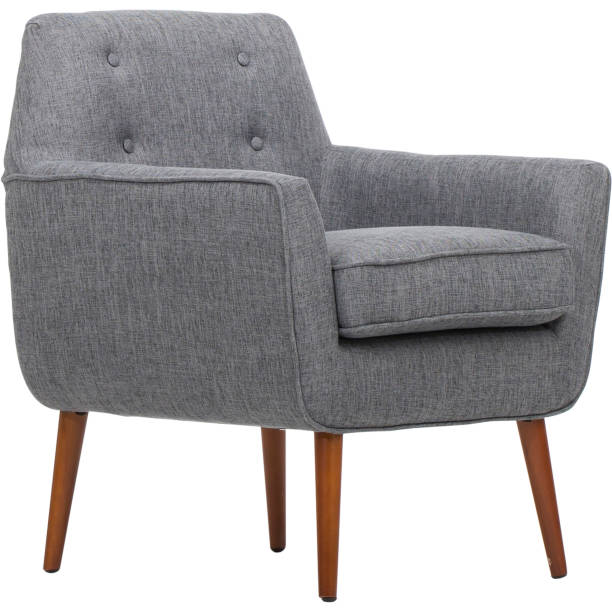 Dark Gray Living Rolled Top Club Chair Dark Gray Living Rolled Top Club Chair armchair stock pictures, royalty-free photos & images