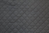dark gray quilting texture for background.close-up.
