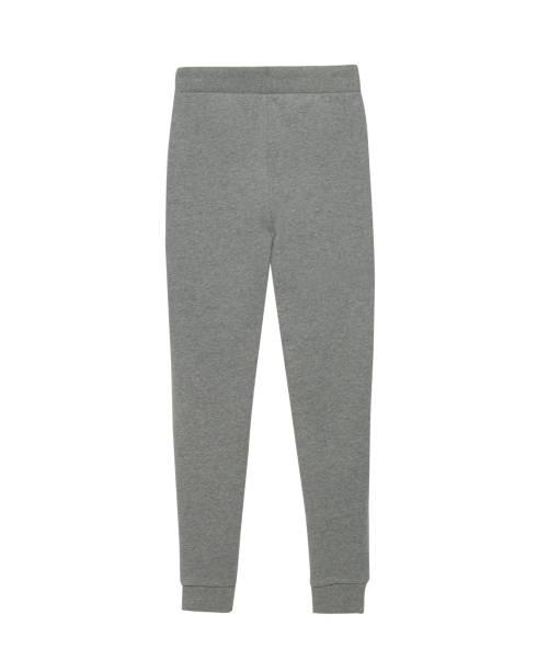 dunkel grau sport trainingshose isoliert weiß - sweatpants stock-fotos und bilder
