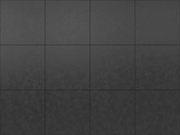 Dark Gray Tiled Floor Background Stock Photo