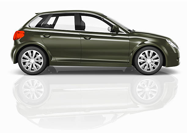 dunkel grün 3d hecktürmodell-illustration - hecktürmodell stock-fotos und bilder