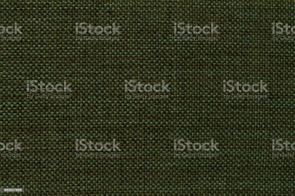 밀도가 짠 직물, 근접 촬영을 포기할의 진한 녹색 배경. 섬유 매크로의 구조입니다. royalty-free 스톡 사진