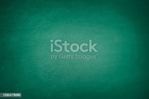 Blank green chalkboard background with traces of erased chalk