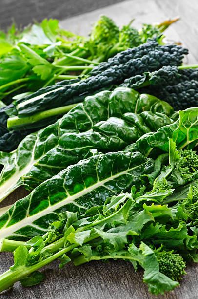 Dark green leafy vegetables stock photo