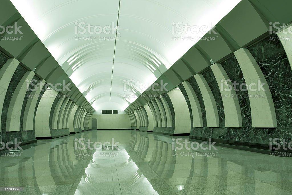 dark green metro station royalty-free stock photo