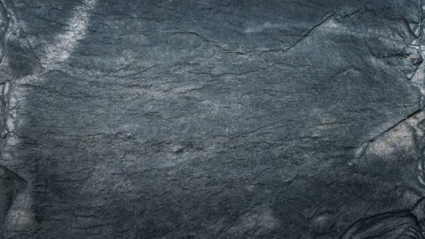 Dunkelgraue schwarze Schiefertextur, Bodenbeläge, Tapete oder Hintergrund. Grobe Textur mit feinen Details – Foto