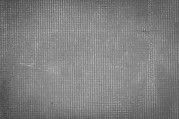 Dunkelgrau Zement Mauer mit Internet und schmutzabweisend, texturierter Hintergrund – Foto