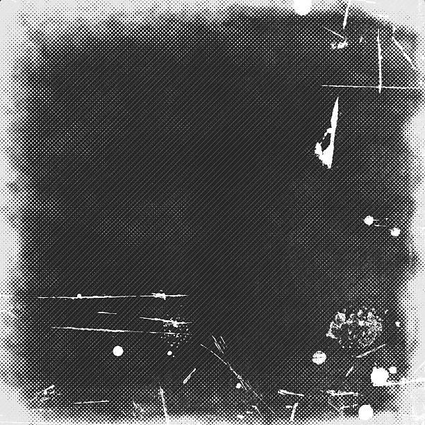Gris foncé fond grunge, illustration - Photo
