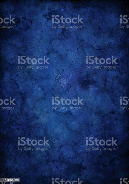Dark Grunge Blue Background Stock Photo - Download Image Now