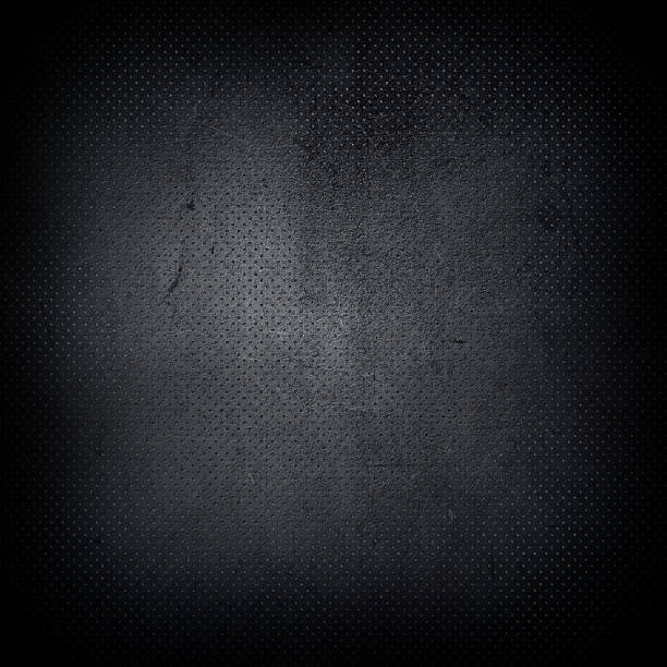dark grunge perforated metal background - diamond plate background stock photos and pictures
