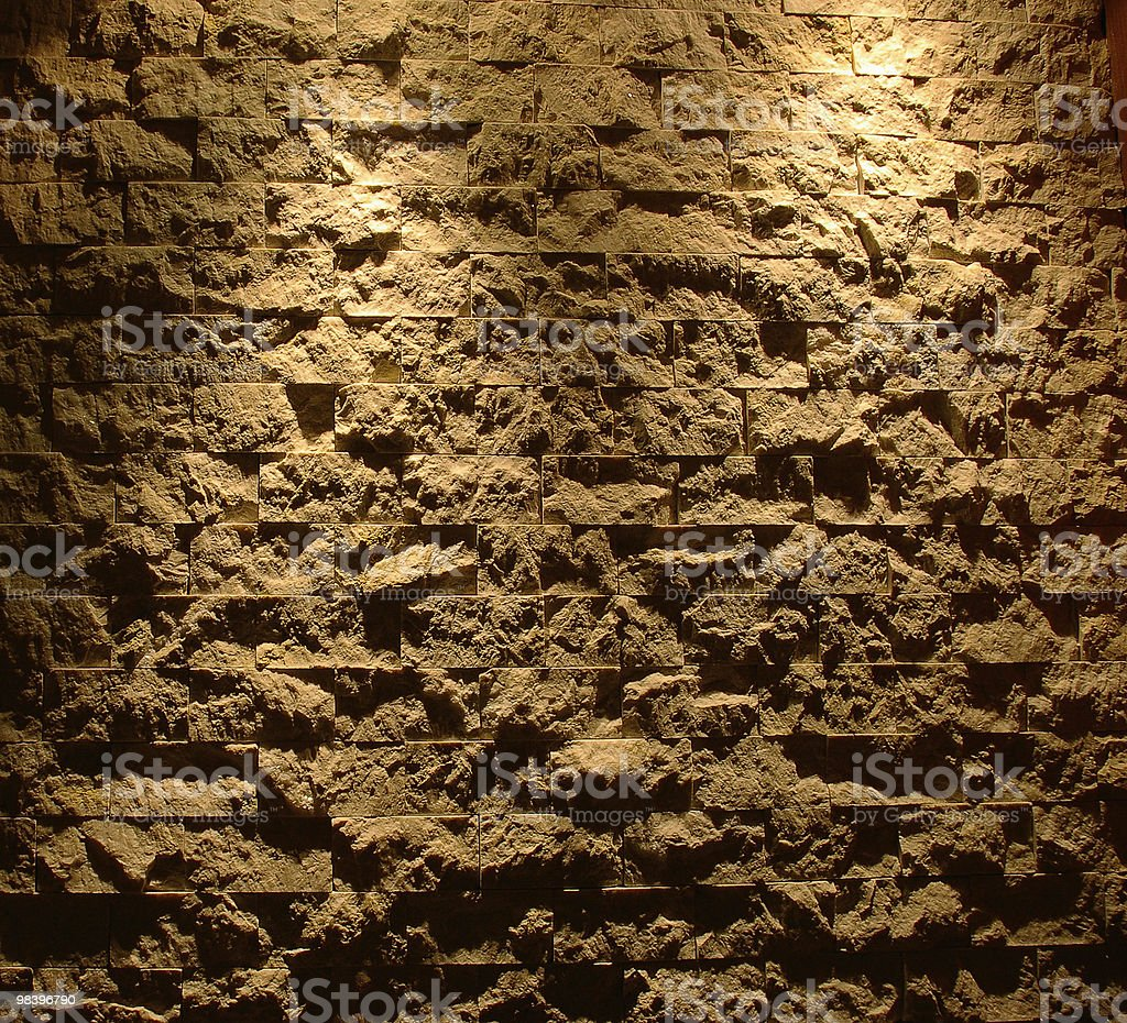 Dark grunge rough brick wall royalty-free stock photo