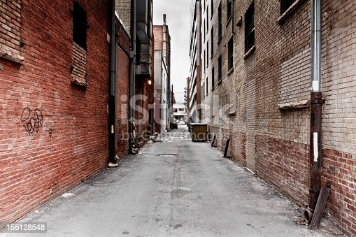 Dark Grungy Alley in a big city