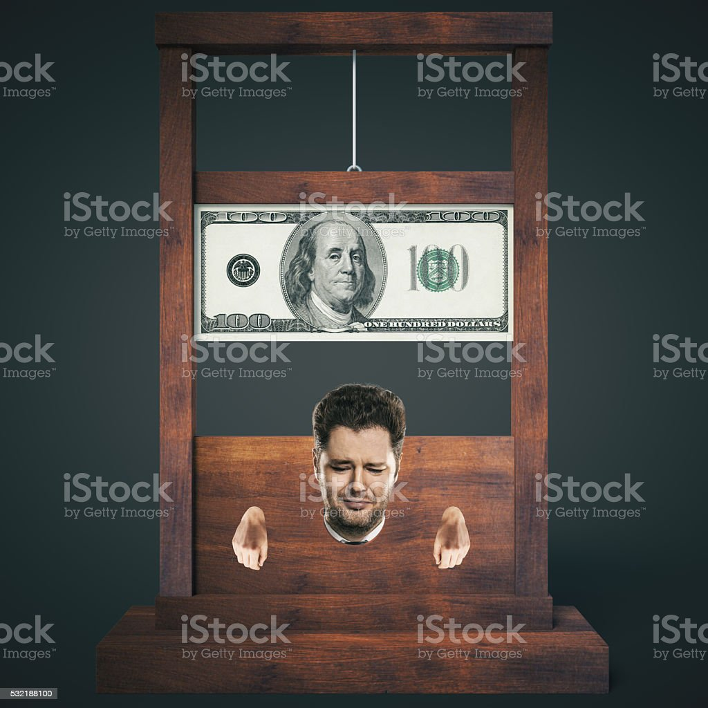 Dark guillotine stock photo